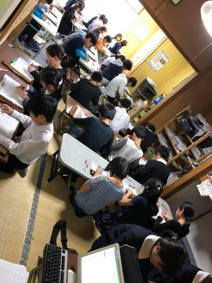 小黒珠算教室練習風景