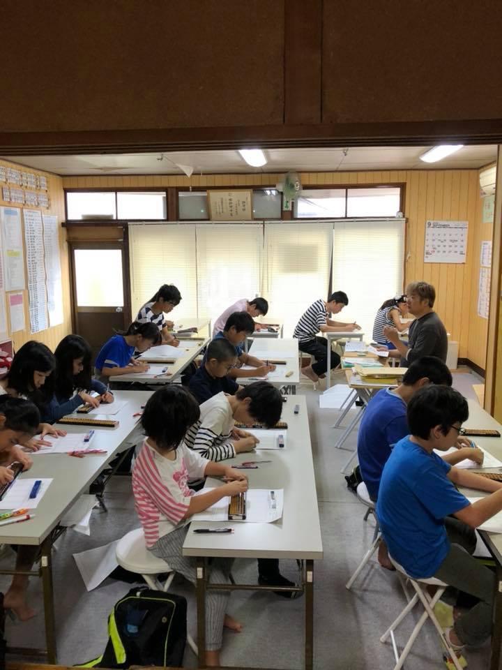 小黒珠算教室授業風景